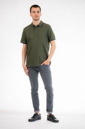 CALVIN KLEIN POLO Zielony M - Ceny i opinie T-shirty i koszulki męskie KKJW