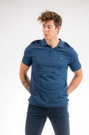 CALVIN KLEIN POLO S Granatowy - Ceny i opinie T-shirty i koszulki męskie TCYO