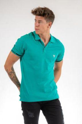 POLO GEOFF Zielony XXL - Ceny i opinie T-shirty i koszulki męskie OJVX