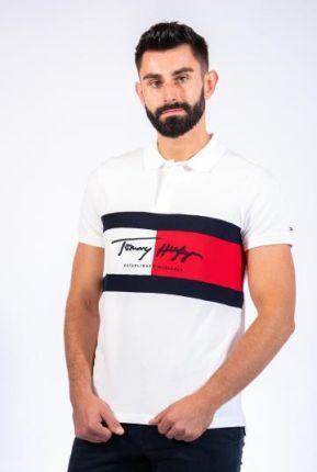 TOMMY HILFIGER POLO AUTOGRAPH FLAG Biały XXL - Ceny i opinie T-shirty i koszulki męskie MVSU