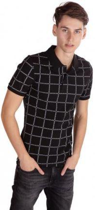 CALVIN KLEIN JEANS POLO GRID Czarny XL - Ceny i opinie T-shirty i koszulki męskie GZJY