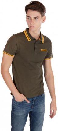 GUESS POLO CLINT Zielony S - Ceny i opinie T-shirty i koszulki męskie ZBBY