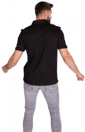 GUESS POLO DUKE Czarny L - Ceny i opinie T-shirty i koszulki męskie OGBZ