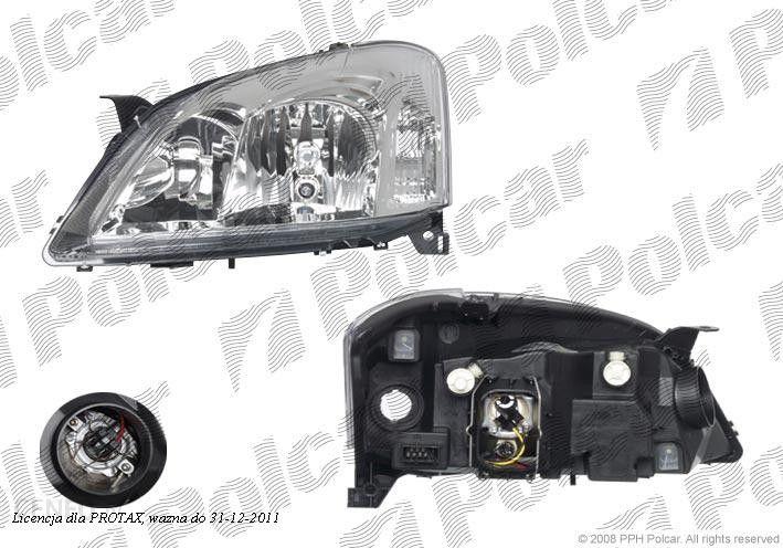 Valeo Lampa Przednia Reflektor świateł Przednich Toyota Corolla E12 Sdnhbkombi 0102 1203