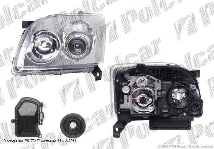 Tyc Lampa Przednia Reflektor świateł Przednich Toyota Avensis T25 0403 0606