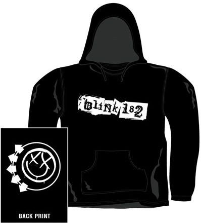 Bluza kangurka z kapturem BLINK 182 - SMILEY [HSB_1129] bcid-002