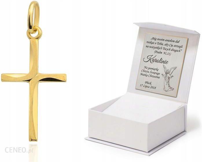prezent na chrzest złoty krzyżyk