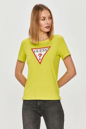 Guess Britney Thé Women V-Neck T-SHIRT femme fashion vert green w0yi85j1300-ryj