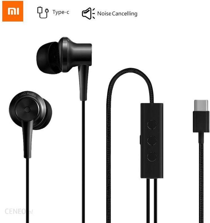 Aliexpress Oryginalne Słuchawki Xiaomi Anc Type C Słuchawki Z Redukcją Szumów Kontrola Przewodowa Z Mikrofonem Ceneo Pl
