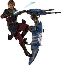 Hot Toys Star Wars The Clone Wars 1/6 Anakin Skywalker & Stap 31 cm