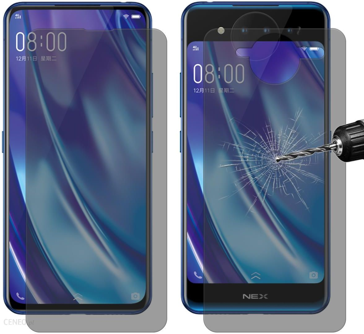 Hat Prince For Vivo Nex Dual Display 2 5d 0 26mm 9h Front Back Anti Peep Tempered Glass Screen Protector Film Ceneo Pl