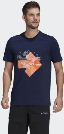 Adidas Travel Graphic Tee GR9984 - Ceny i opinie T-shirty i koszulki męskie EYQW
