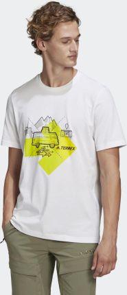 Adidas Travel Graphic Tee GR9985 - Ceny i opinie T-shirty i koszulki męskie MLNT