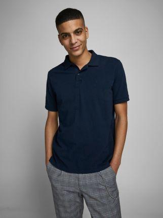Jack & Jones Ebasic Polo Navy Blazer - Ceny i opinie T-shirty i koszulki męskie IZOO