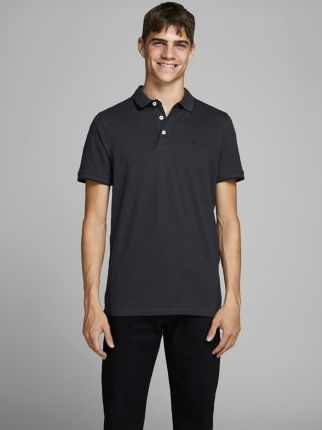 Jack & Jones Epaulos Polo Dark Grey Melange - Ceny i opinie T-shirty i koszulki męskie STLE