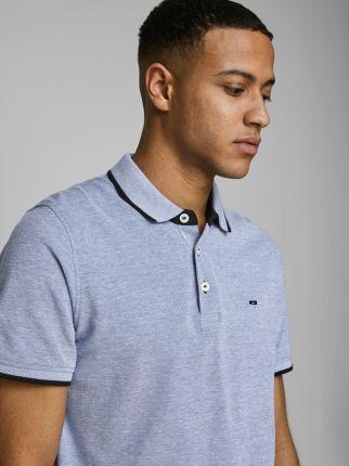 Jack & Jones Epaulos Polo Bright Cobalt - Ceny i opinie T-shirty i koszulki męskie FFWM