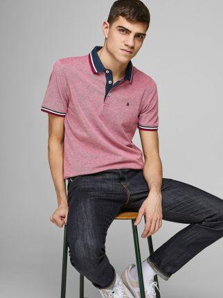 Jack & Jones Epaulos Polo Rio Red - Ceny i opinie T-shirty i koszulki męskie FSZN