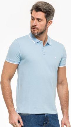 Wrangler Pique Polo Cerulean Blue SMU - Ceny i opinie T-shirty i koszulki męskie HXJT