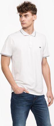 Lee Pique Polo Bright White Plus - Ceny i opinie T-shirty i koszulki męskie UMHF