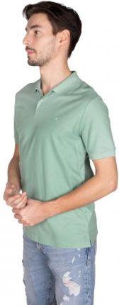 Calvin Klein Polo Refined Pique Logo Męskie Zielony XXL - Ceny i opinie T-shirty i koszulki męskie ASUF