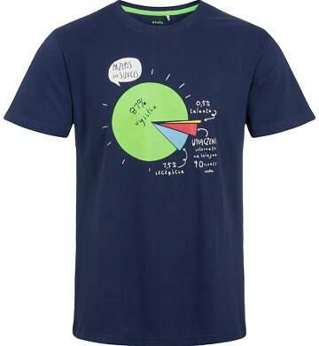 T shirt męski, z przepisem na sukces, granatowy - Ceny i opinie T-shirty i koszulki męskie EZDY