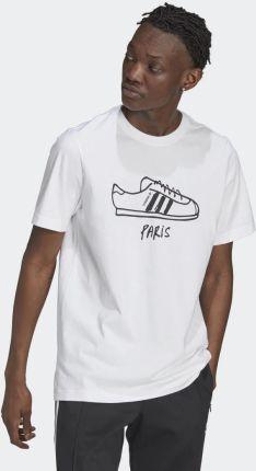 Adidas PAR SHOE Tee M GT7426 - Ceny i opinie T-shirty i koszulki męskie ANGT