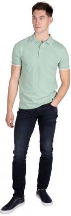 Calvin Klein Polo Męskie Tipping Zielony S - Ceny i opinie T-shirty i koszulki męskie SSLH