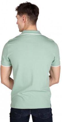 Calvin Klein Polo Męskie Tipping Zielony XL - Ceny i opinie T-shirty i koszulki męskie ZVCP