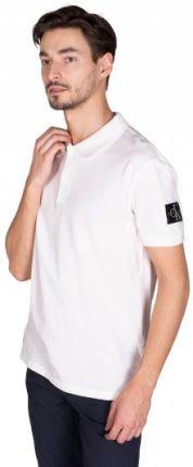 Calvin Klein Jeans Polo Monogram Badge Biały S - Ceny i opinie T-shirty i koszulki męskie NDZF