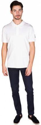 Calvin Klein Jeans Polo Monogram Badge Biały XXL - Ceny i opinie T-shirty i koszulki męskie GNRT