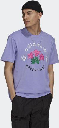 Adidas adidas Adventure Flowers Tee GN2375 - Ceny i opinie T-shirty i koszulki męskie OSFB