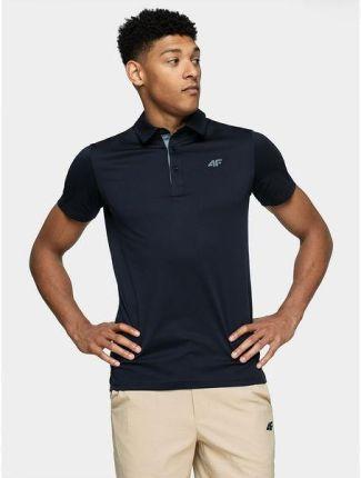 Koszulka męska polo H4L21 TSMF080 4F (granat) - Ceny i opinie T-shirty i koszulki męskie WHET