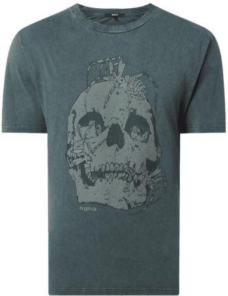 T shirt z efektem sprania model 'Spider & Skulls' - Ceny i opinie T-shirty i koszulki męskie VFBC