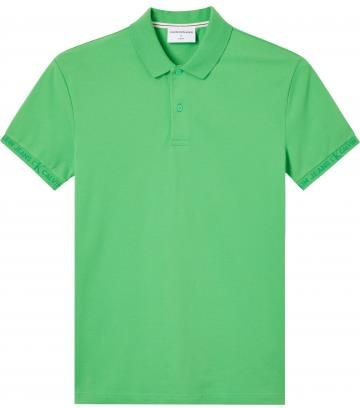Calvin Klein Jeans Polo Męskie Jacquard Logo Zielony L - Ceny i opinie T-shirty i koszulki męskie OWDK