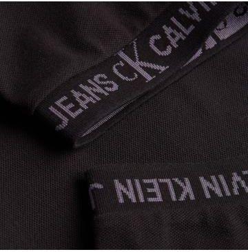 Calvin Klein Jeans Polo Męskie Jacquard Logo Czarny S - Ceny i opinie T-shirty i koszulki męskie BASE