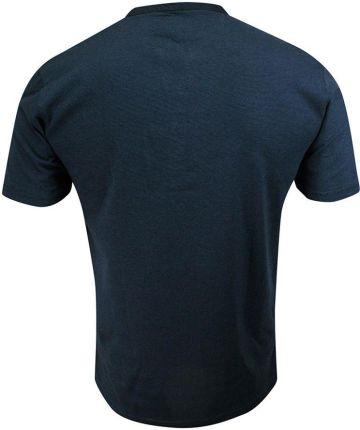 T-shirt Bawełniany, Granatowy w Paski z Kieszonką, KrÓtki Rękaw, Dekolt z Guzikami -PAKO JEANS TSPJNSONLINEgr - Ceny i opinie T-shirty i koszulki męskie NOXT