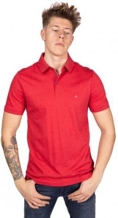 Calvin Klein Polo Męskie Liquid Touch Czerwony L - Ceny i opinie T-shirty i koszulki męskie UKNK