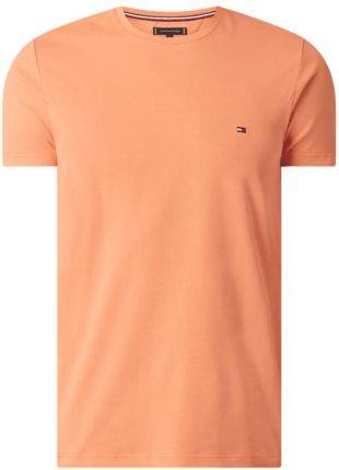 T shirt o kroju slim fit z bawełny ekologicznej - Ceny i opinie T-shirty i koszulki męskie GYEJ