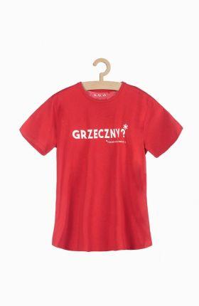 5.10.15. T Shirt Męski Z Polskimi Napisami Czarwony - Ceny i opinie T-shirty i koszulki męskie AQRF