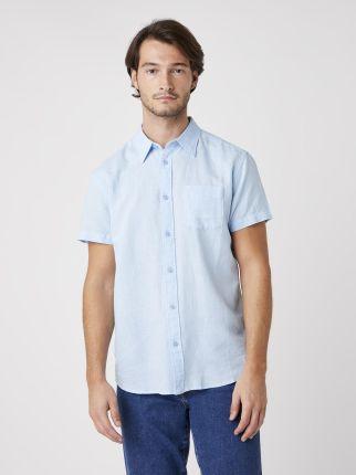 Wrangler Refined Polo Cerulean Blue - Ceny i opinie T-shirty i koszulki męskie NKNU