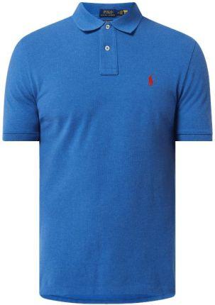 Koszulka polo o kroju custom slim fit z wyhaftowanym logo - Ceny i opinie T-shirty i koszulki męskie NUIK