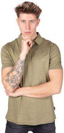 Calvin Klein Polo Męskie Liquid Touch Zielony M - Ceny i opinie T-shirty i koszulki męskie KWMR