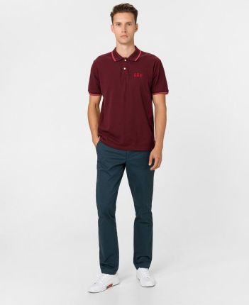 Gap Polo Koszulka Czerwony - Ceny i opinie T-shirty i koszulki męskie KPFA