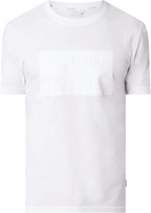 T shirt z nadrukiem flokowym z logo - Ceny i opinie T-shirty i koszulki męskie ETHZ