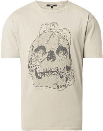 T shirt z efektem sprania model 'Spider & Skulls' - Ceny i opinie T-shirty i koszulki męskie VECO
