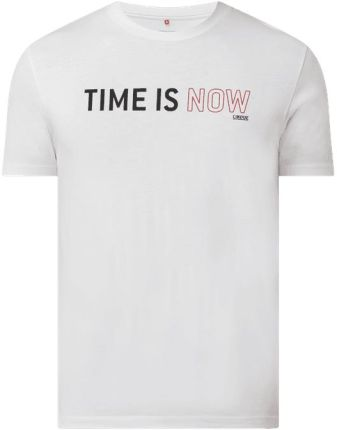 T shirt z nadrukiem z logo model 'Cislogan' - Ceny i opinie T-shirty i koszulki męskie JXWJ