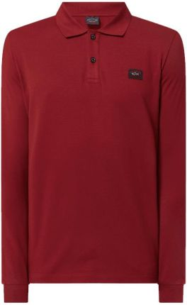 Koszulka polo z bawełny ekologicznej z długim rękawem - Ceny i opinie T-shirty i koszulki męskie WBVY