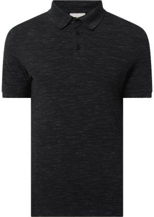 Koszulka polo o kroju slim fit z dżerseju slub - Ceny i opinie T-shirty i koszulki męskie WILG