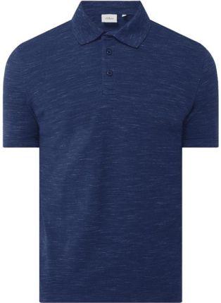 Koszulka polo o kroju slim fit z dżerseju slub - Ceny i opinie T-shirty i koszulki męskie KMAI