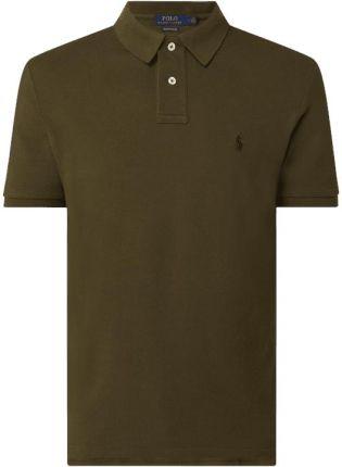 Koszulka polo o kroju custom slim fit z wyhaftowanym logo - Ceny i opinie T-shirty i koszulki męskie HAFI